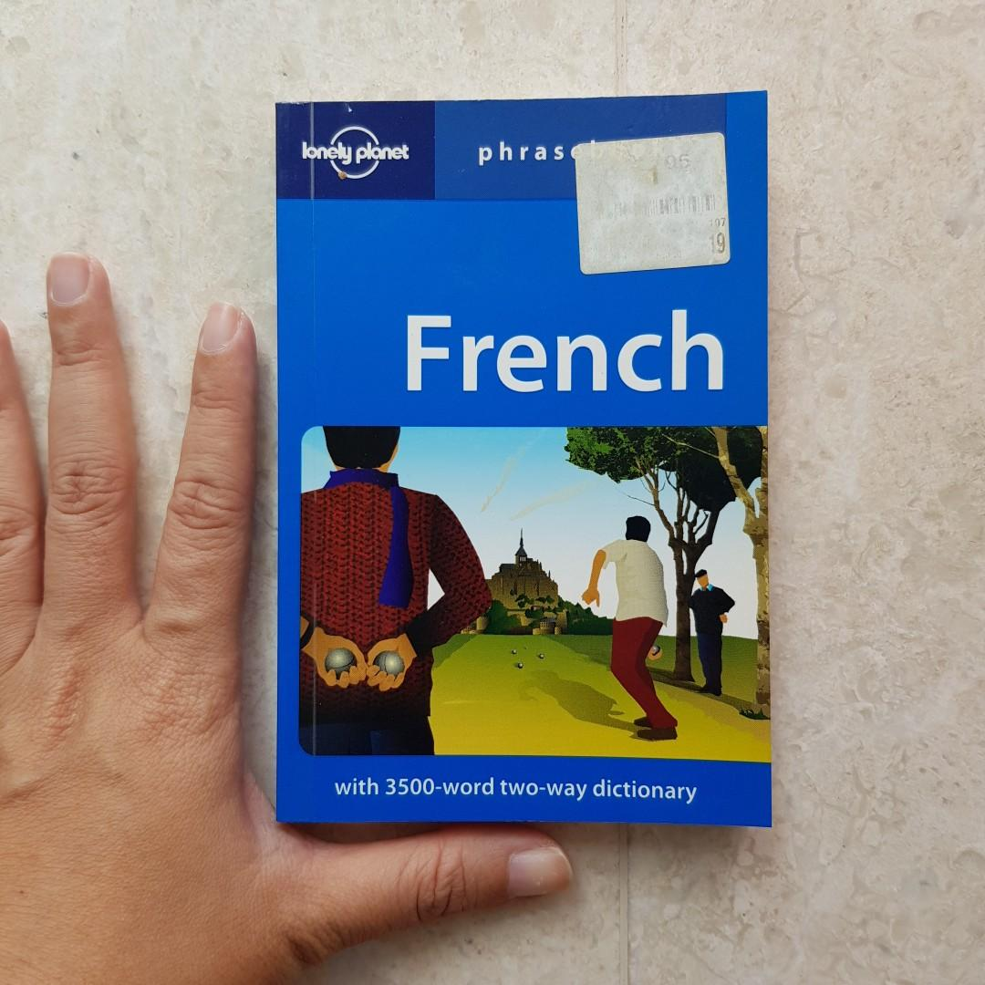 French language Phrasebook pocket size by Lonely Planet