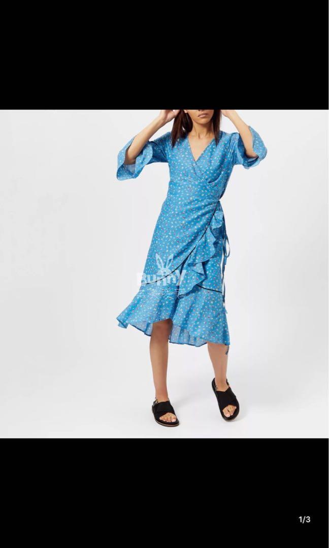 GANNI blue dress