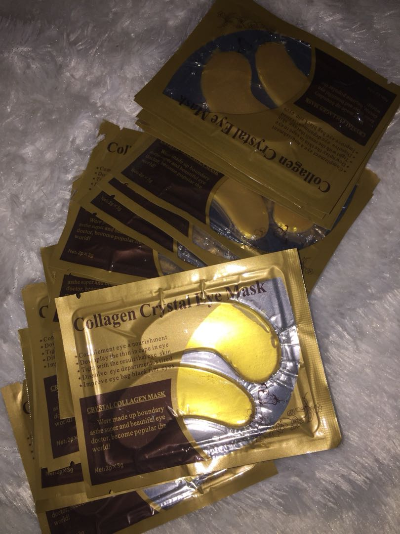 Gold Collagen crystal eye mask masker mata kolagen, Health & Beauty, Skin, Bath, & Body on Carousell