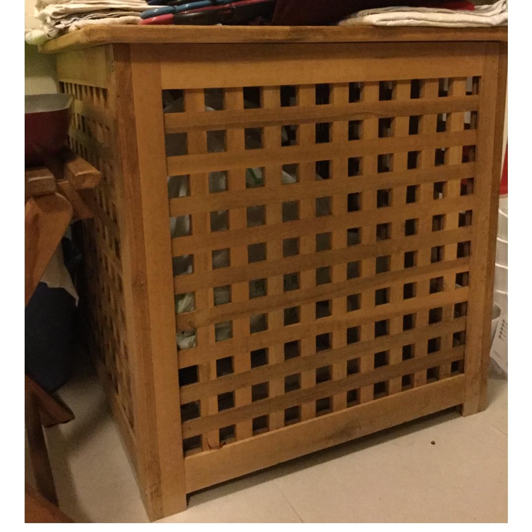 IKEA HOL  laundry basket/storage, Furniture & Home Living, Home ...