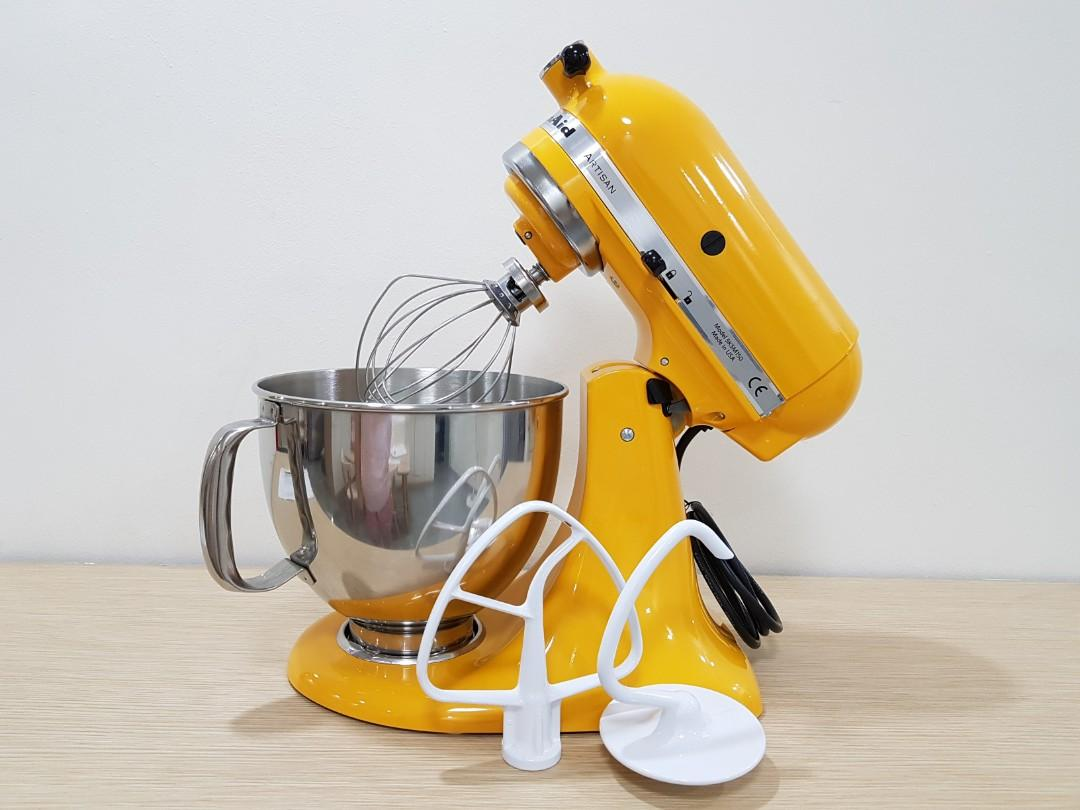 Awe Inspiring Kitchen Aid Stand Mixer Yellow Pepper Home Appliances Home Interior And Landscaping Analalmasignezvosmurscom