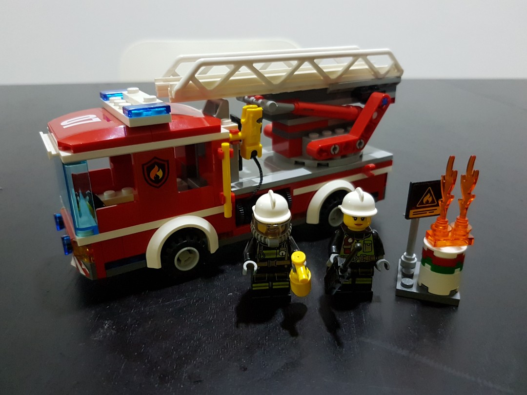 Lego City Fire Ladder Truck 60107 Toys Games Diecast Toy
