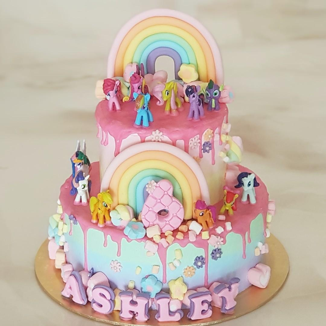 Admirable Little Pony Birthday Cake Food Drinks Baked Goods On Carousell Funny Birthday Cards Online Alyptdamsfinfo