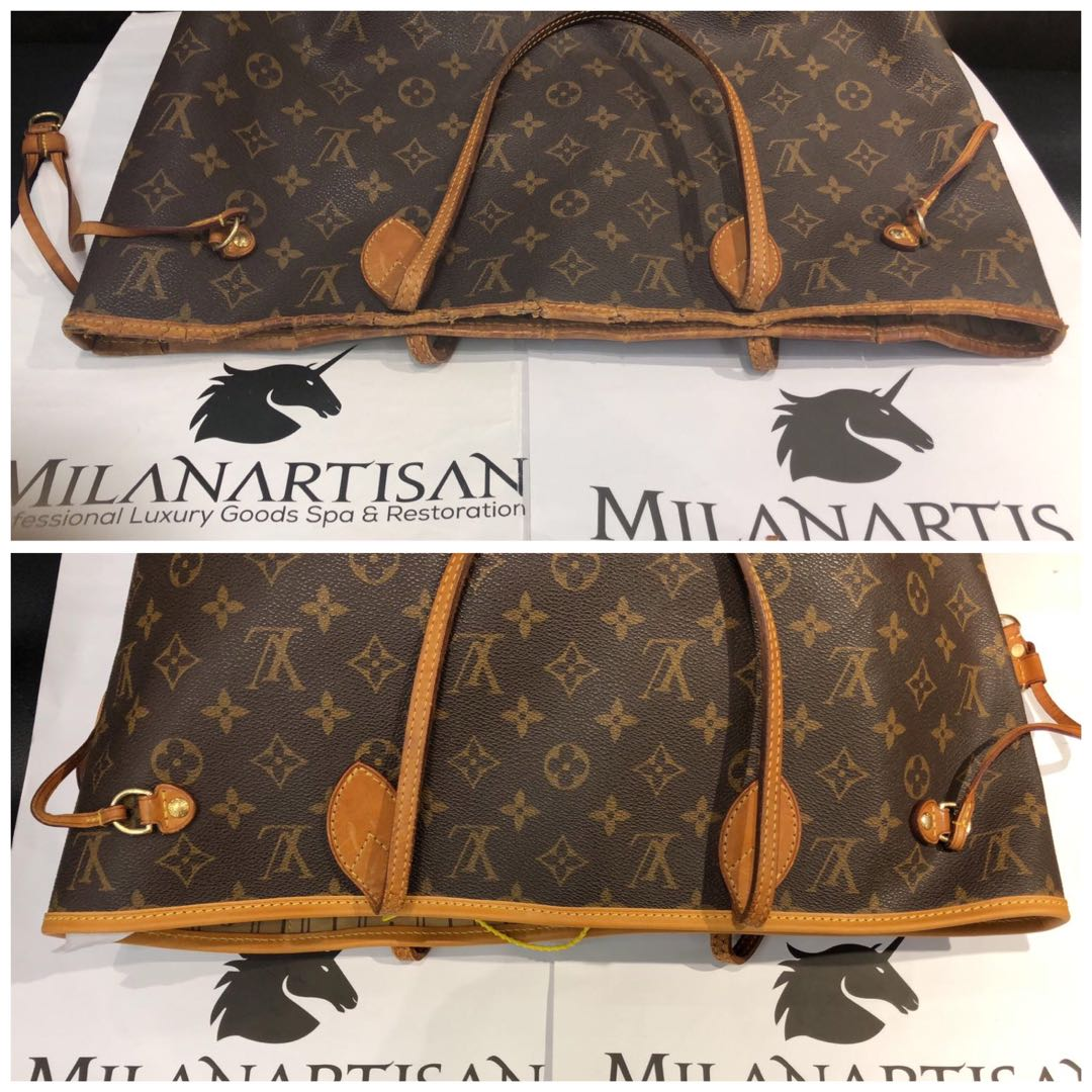 9cd9a8a4bb LOUIS VUITTON NEVERFULL BAG WITH WORN OUT TRIMMING REPLACE ...