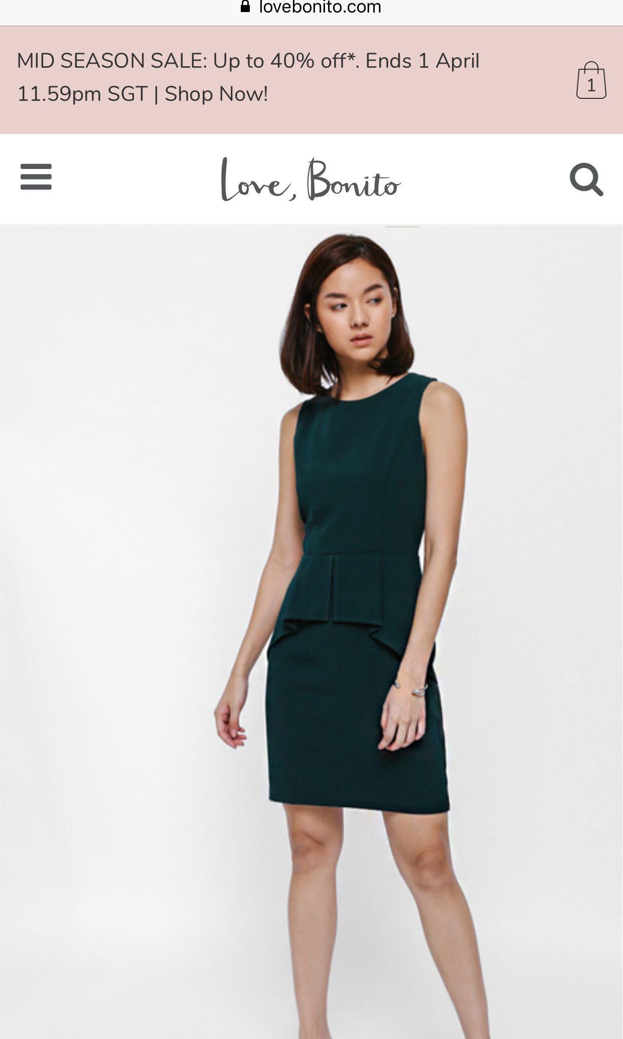 ca50a8115ad9 Lovebonito Helrene Origami Cascade Peplum Dress in Size M, Women's ...