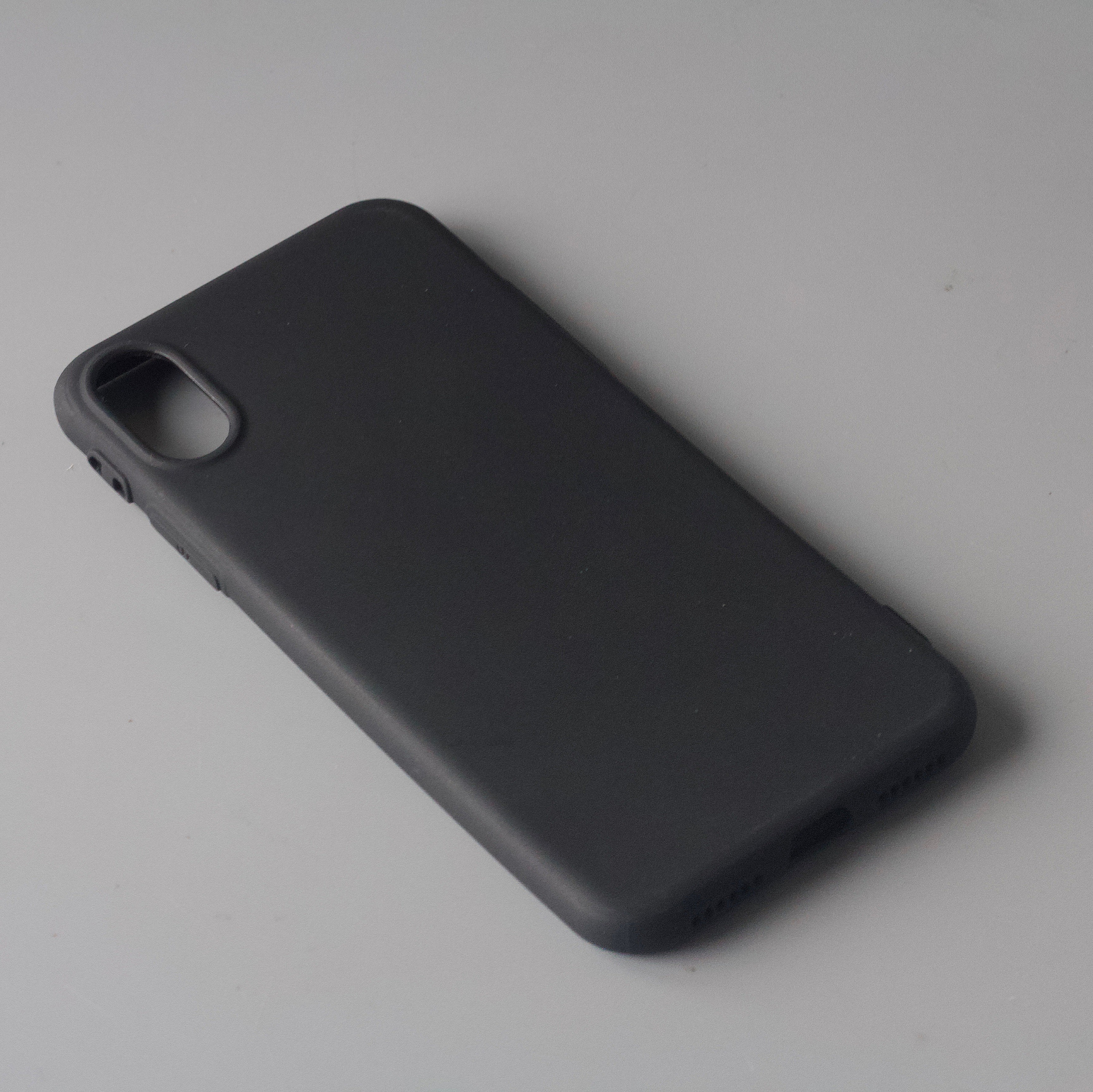 quality design 2bf02 9de7b iPhone XS Matte Black Silicone Case