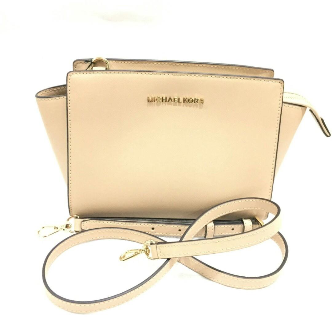 14a5838e7b3c Michael Kors Oyster Saffiano Leather Selma Sling Bag