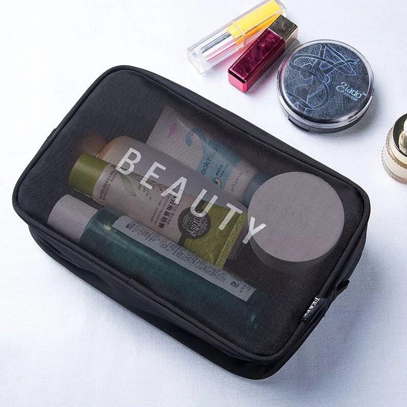 Mini Mesh cosmetic bag portable 3pcs