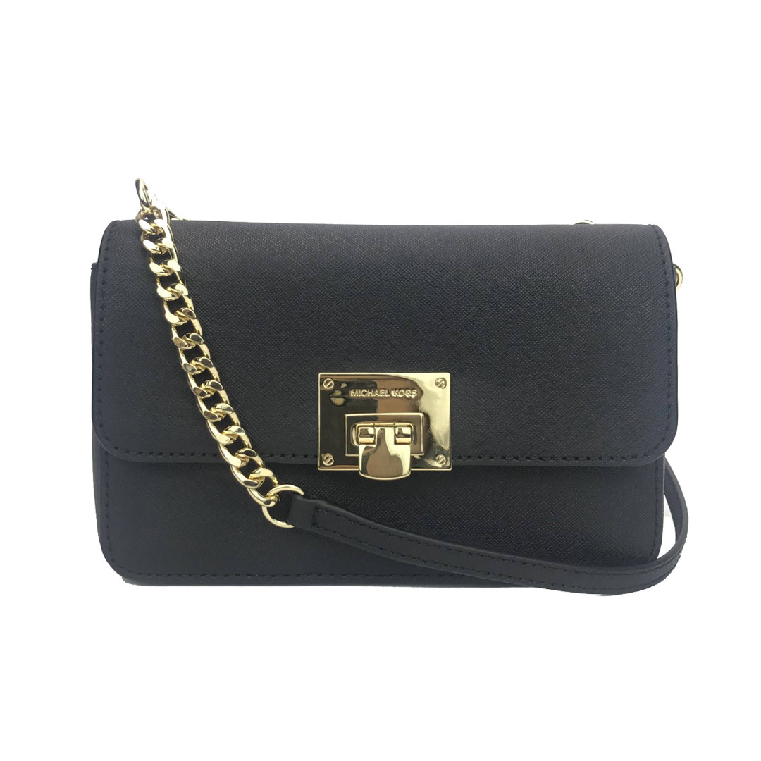 1c0bc8d57159 NEW ARRIVAL Michael Kors Tina Wallet + Clutch Crossbody Bag Black ...