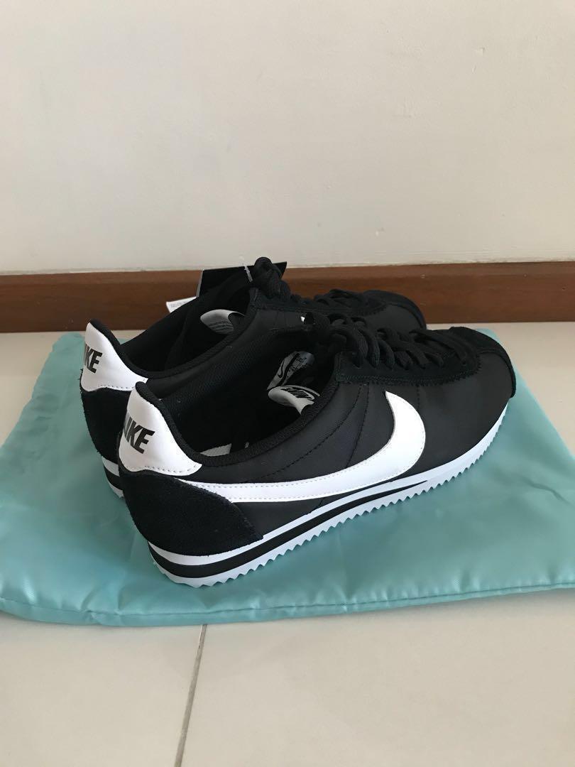 Nike Cortez Nylon Black, Men's Fashion
