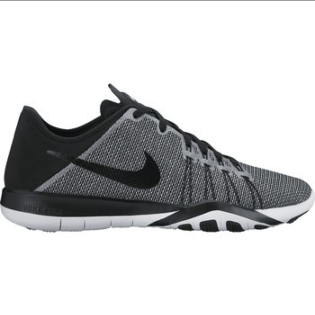 72fb4f6d8000 Authentic Nike Free TR6 Black White Print Gym Training Shoes ...