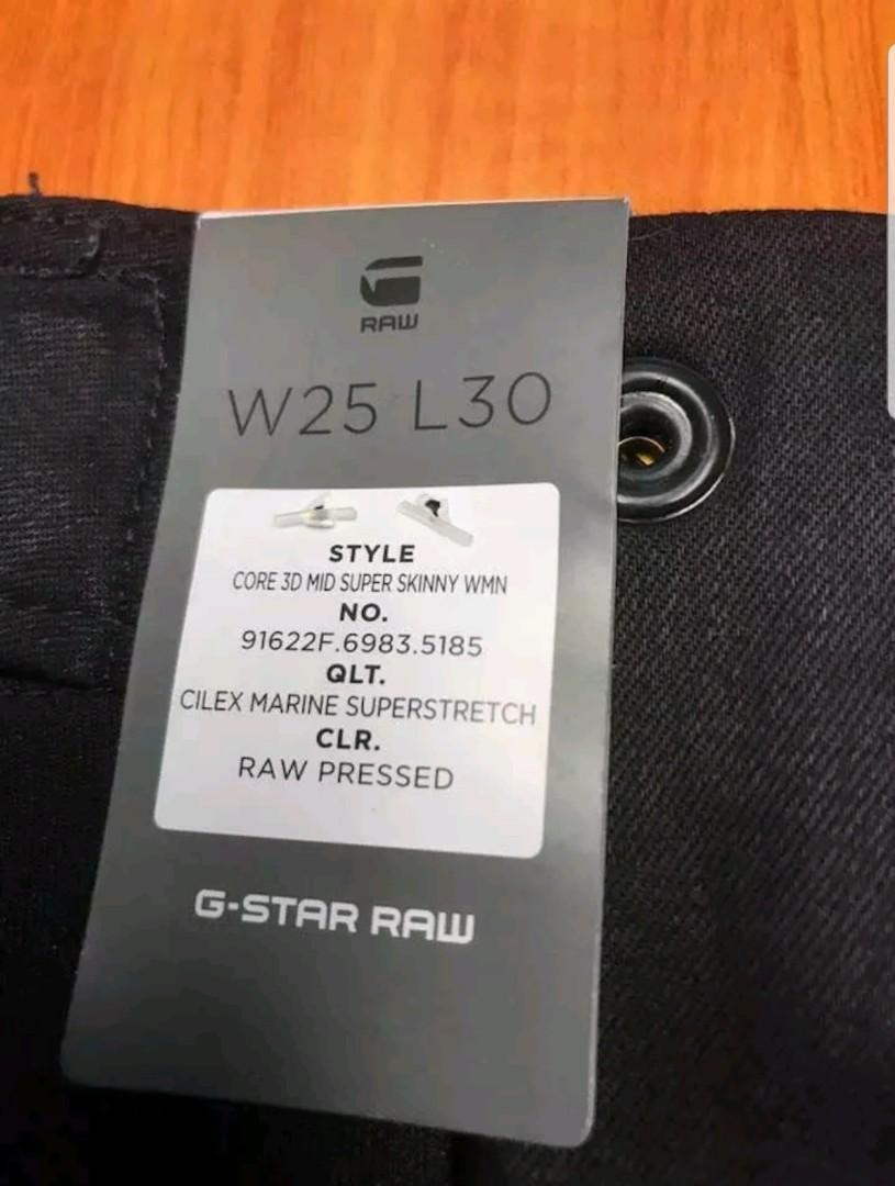 NWT G star Women Super Stretch Fitted Denim Pants US25 AU6-8