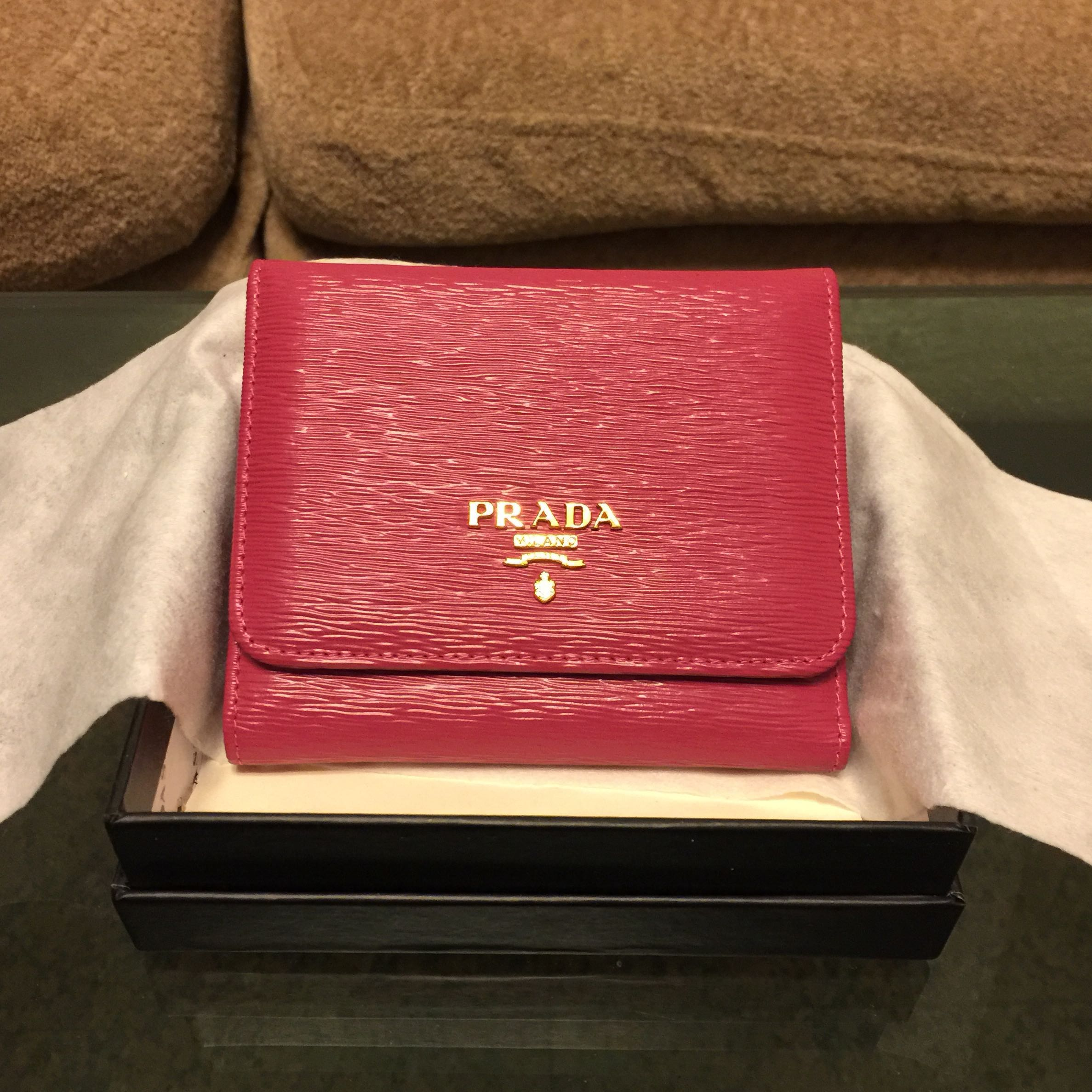 0975ffa2613c Prada trifold wallet [SALE], Luxury, Bags & Wallets, Wallets on ...