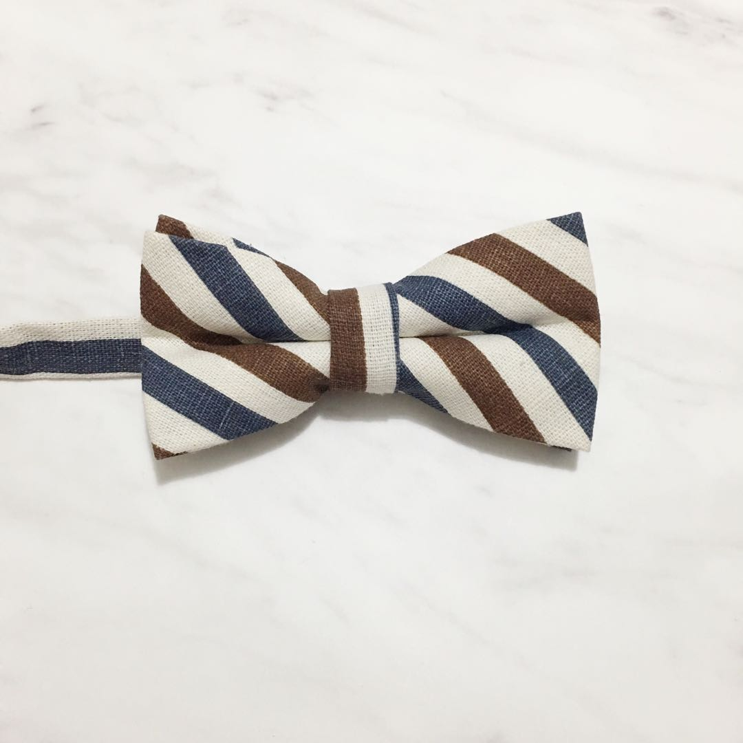 ee0004aca228 Rustic Stripes Bow Tie, Men's Fashion, Accessories, Ties & Formals ...