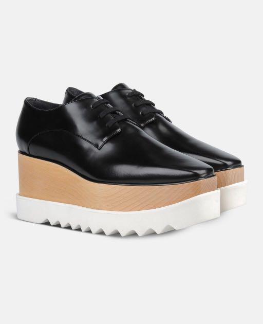 f37398272c6 Sale! Stella Mccartney Elyse Platform Shoes Black