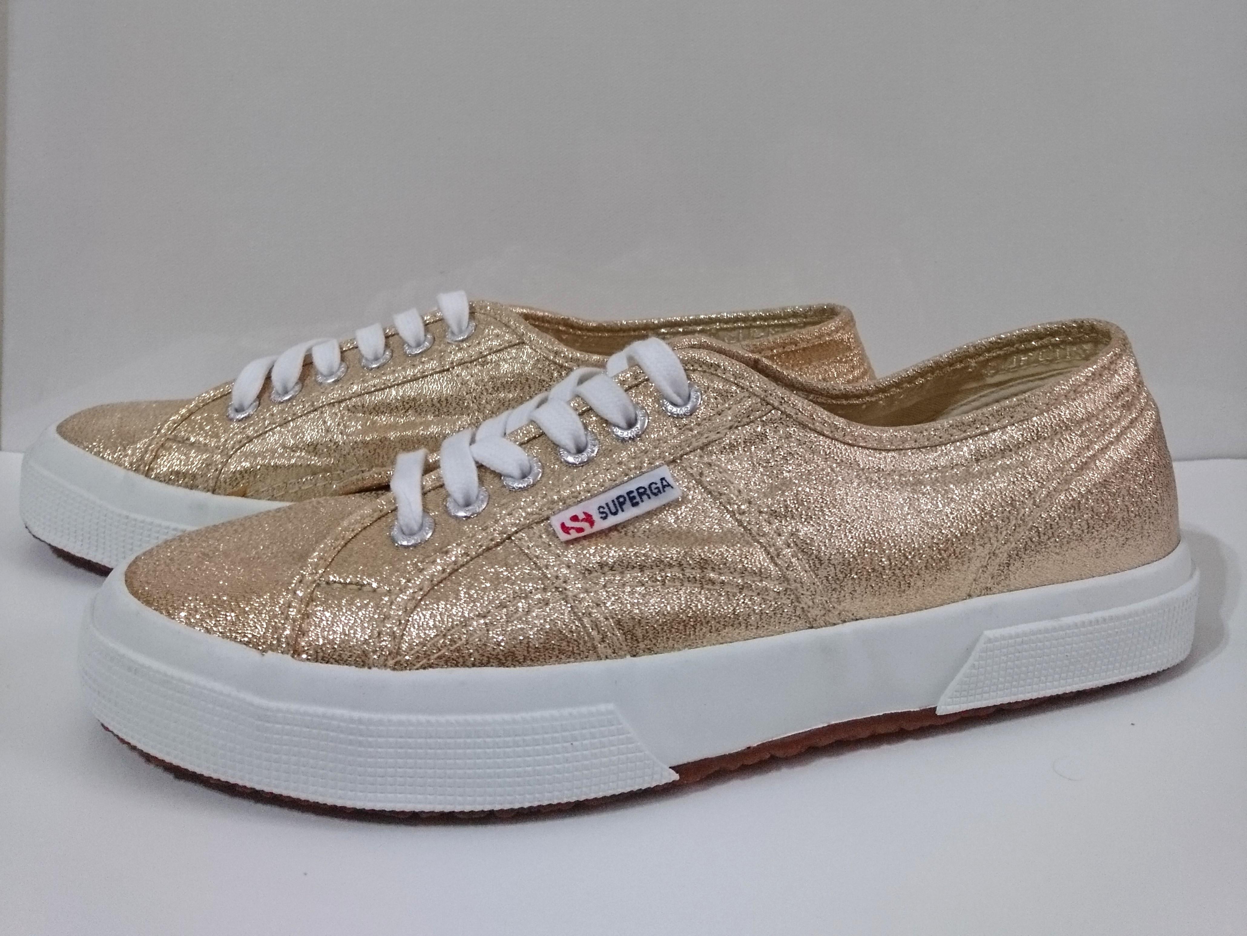 37723eb4fef56 BN Superga Classic Lamew Gold, Women's Fashion, Shoes, Sneakers on ...