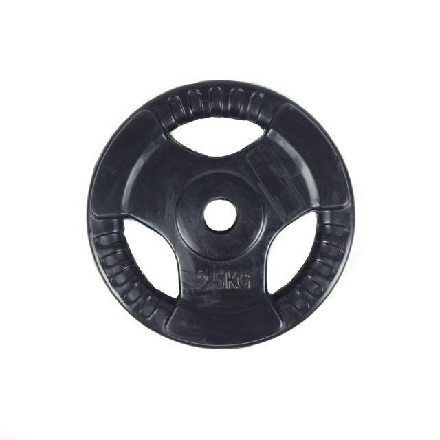 Tri-Grip Rubber Weight Plates