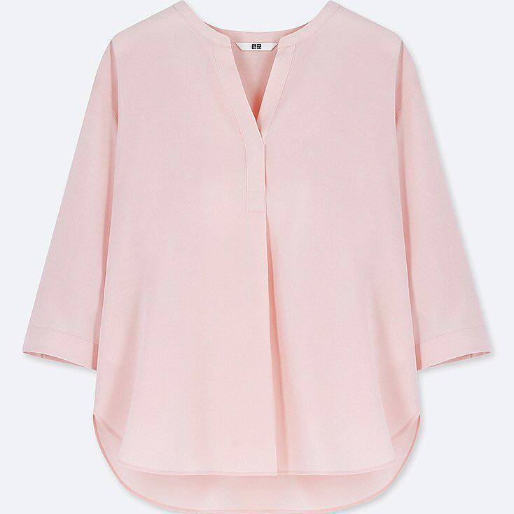 150f79720096ed Uniqlo Rayon Skipper Collar 3/4 sleeve blouse, Women's Fashion, Clothes,  Tops on Carousell