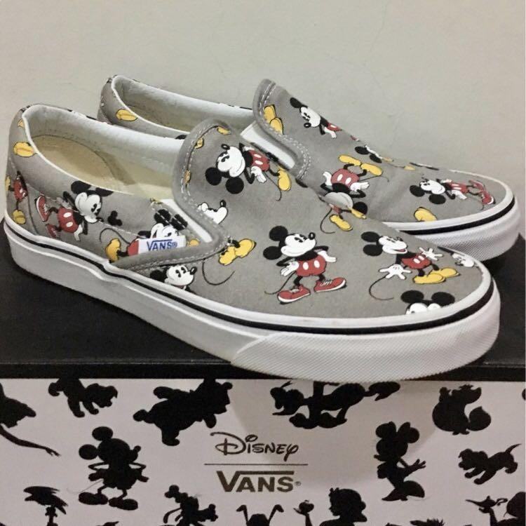 Vans Disney Mickey Mouse Slip on, Women's Fashion, Shoes