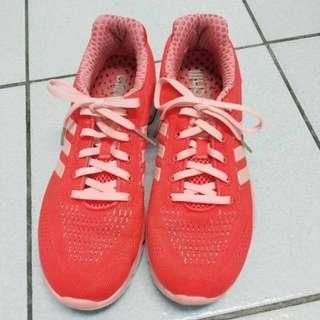 🚚 Adidas  愛迪達  輕量 透氣 慢跑鞋 急凍 網布 粉紅橘 布鞋  運動鞋  8號半  8.5  25  25.5