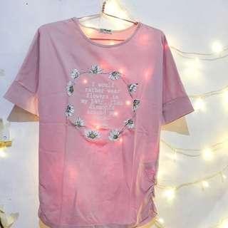 Nevada Kaos Warna Soft Pink