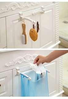 廚房 廚櫃 門背式 垃圾袋 支架 掛架 掛鈎 架子 包郵