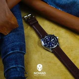 🚚 Italian Veg Tanned Leather Strap in Brown (Available in 18, 20 and 22mm)