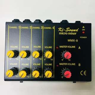 Ki Sound Micro Mixer 8 Channel MMX-8 #3x100