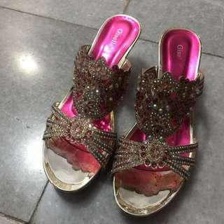 Pretty in Pink Party Sandals size 38