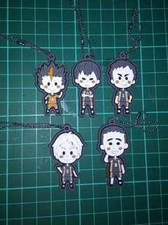 Haikyuu!! Rubber Mascot Karasuno Spirits VerComplete Set