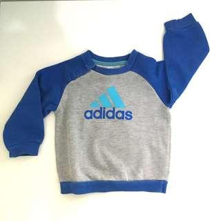 Original Adidas Blue and Grey Sweatshirt 6-9months 74cm