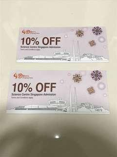 10% off science centre singapore admission