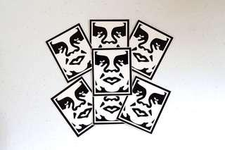 OBEY Giant Black and White Icon Stickers (AUTHENTIC)