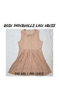 Dusty Rose Paperdolls Fit-and-Flare Lace Dress Plus Size