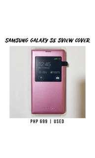 Original Samsung Galaxy S5 SView Cover (Pink)