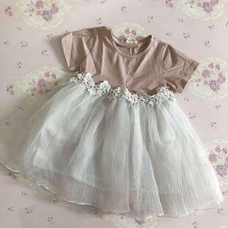 Preloved Dusty Pink Girl Dress