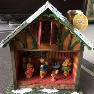 絕版小樽木製音樂小熊屋