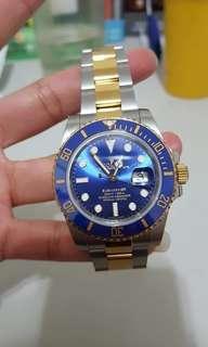 香港直郵 勞力士 ROLEX 潛航者 116613 間金藍色