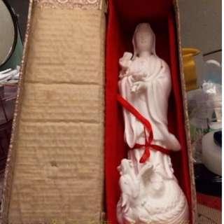 🚚 藝品白瓷雕-觀音