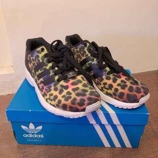 🚚 Adidas originals ZX FLUX 彩色豹紋女鞋 愛迪達