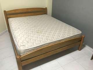 IKEA Queen Size Mattress +bed frame