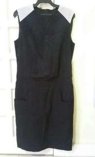 Elegant black & white corporate dress