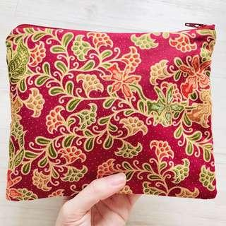 The Everyday Batik Pouch Handmade in Singapore