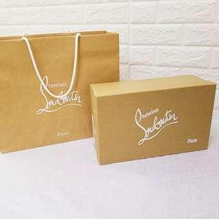 CL鞋盒+纸袋套 Christian Louboutin Shoe Box with paper bag Set