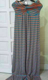 Apartment 8 Tube striped cotton dress