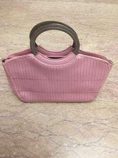 Pink hand carry small bag evening bag