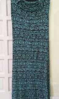 Printed cotton tube dress