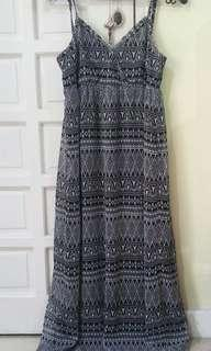 Aztec designed spaghetti strapped dress
