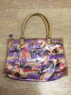 Designer handbag woman images purple beige