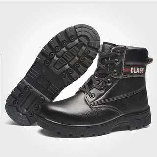 BN Class Black Steel-Toe Safety Boots